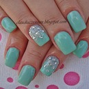 Mint Cream Nails