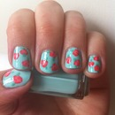 Cute vintage rose nails 3