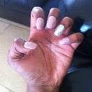 glam / nude nails
