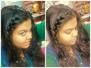braids... cn never go wrong... my first choice is messy bun.. other than that go gaga on braids.. :)