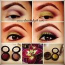 Lime and Plum eyeshadow