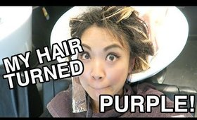 VLOG: MY HAIR TURNED PURPLE! | yummiebitez