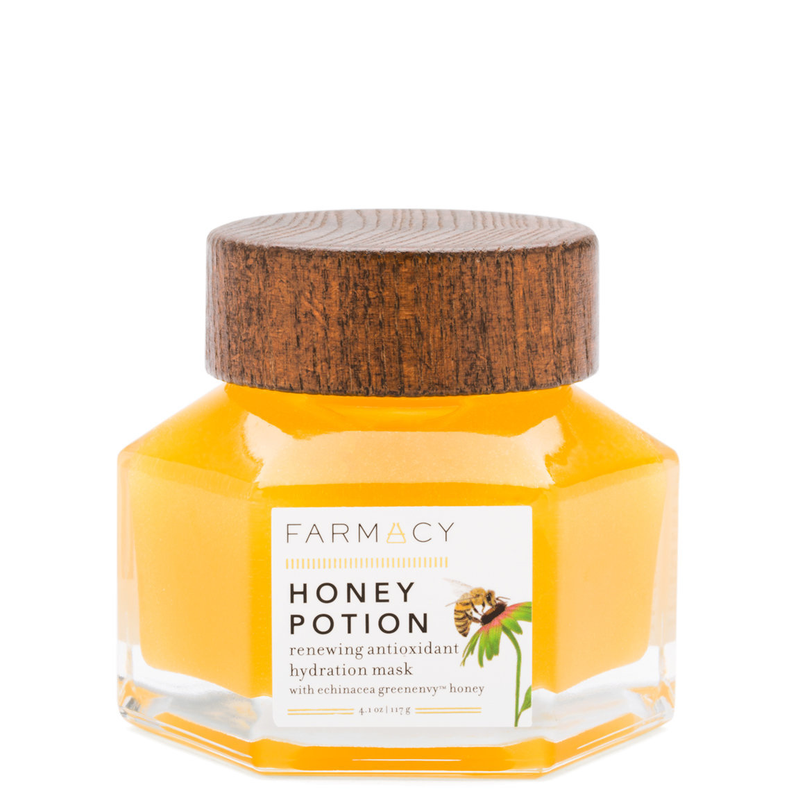 Farmacy Honey Potion Renewing Antioxidant Hydration Mask 4.1 oz product swatch.