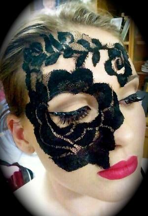 Masquerade makeup  Mask and makeup- Jen P