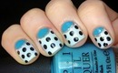Half moon dotticure Nail designs- Nails Polish Half moon manicure cute Easy (Long & Short Nails)