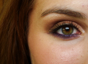 Bronze with a pop of purple