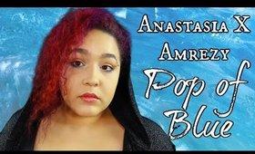 Anastasia x Amrezy Palette Pop of Blue Makeup Tutorial (NoBlandMakeup)