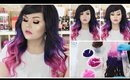 How I Dyed My Hair Extensions Purple to Pink Ombre   VP Fashion Review + Sale