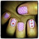 purple dots/roses