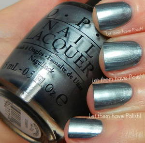 The biggest nail polish fail this year IMHO. This swatch took WAY more effort than I wanted to put into it. The formula on this is terrible! No top coat to avoid bringing out the ugly frost.