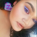 Blue, purple and pink makeup