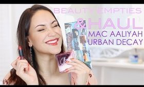 Beauty Empties&NEWBIES: UD BORN TO RUN|MAC Aaliyah