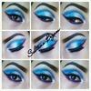 Blue glitter eyes