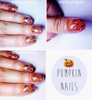My halloween nail art.