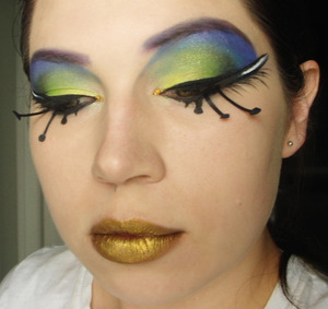 peacock inspired look
