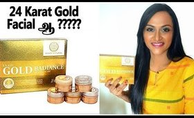 24 Karat Gold Facial ஆ? Khadi Gold Facial Kit Tamil Review & Demo