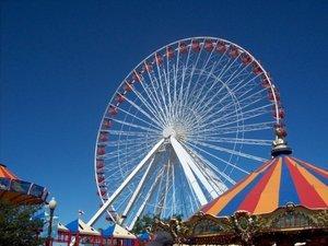 The Ferris Wheel at Navy Pier in Chicago.