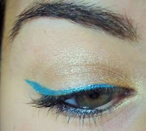 used my new ipsy bag to create this look with NickaK new yorn liquid eyeliner.