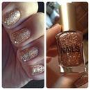 Rose gold nails