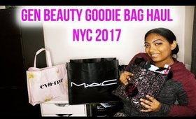 GEN BEAUTY NYC 2017 GOODIE BAG HAUL + MY EXPERIENCE & HONEST OPINION