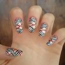 Burberry nails nail art
