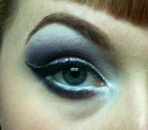 shitty cellphone quality. Urban Decay colors, with NYX glitter linter.