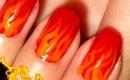 Fiery Fall Nails