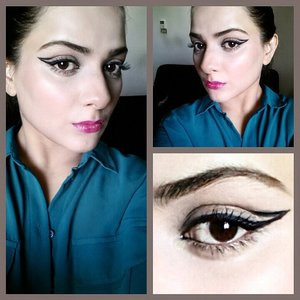 This was a look seen at Herve Leger runway fall/winter 2014 jordan liberty did a tutorial on this and i got inspired and tried the look