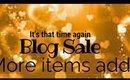 Blog Sale Items Added