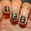 Textured Color Block Nails
