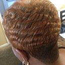 Short cut with curls
