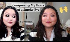 I Try a Dark Smoky Eye with Sephora's Virtual Artist Tutorial | Amy Yang