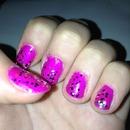 purple with glitter