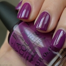 OPI Pamplona Purple vs Barry M Bright Purple