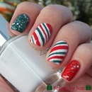 Christmas nail art: Candy Cane
