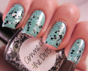 Lynnderella Connect the Dots over Finger Paints Tiffany Imposter @gemsinabottle
