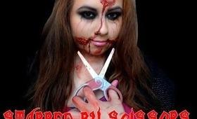 Stabbed By Scissors- Halloween Makeup Tutorial 2013