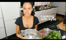 cooking with kylie: quick burrito bowl (#1)