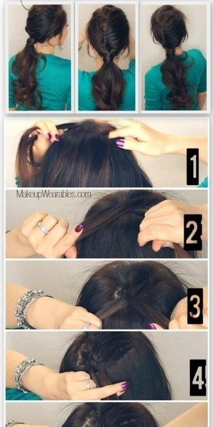 See how to do this on your own hair -  http://www.makeupwearables.com/2014/01/fishtail-braid-ponytail-hairstyle.html