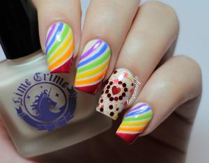 #31DC2013 Day 9 Rainbow Nails