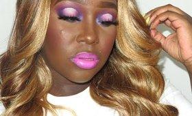 pink and purple makeup