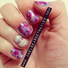 Watercolor & Glitter Nails