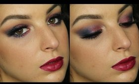 Cranberry & Navy Makeup Tutorial ♥