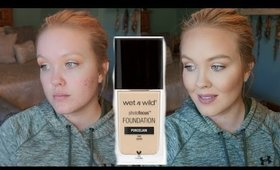 NEW $6 WET N WILD PHOTOFOCUS FOUNDATION REVIEW & DEMO
