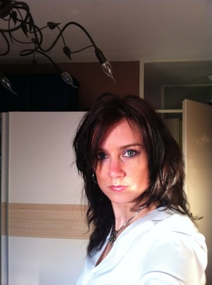 This is about the darkest I go with hair! Snow white.... love what it does in the sun