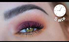 EASY 5 Minute Eyeshadow Tutorial 🦚 ☕  Natural Lust Palette