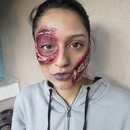 Halloween Make up Scarred Face