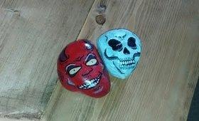 Halloween Crafts 2017: Halloween Character Rock Painting PT.2