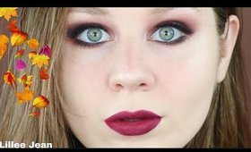 Dark Cranberry Autumn Smokey Eyes Makeup Tutorial | Lillee Jean