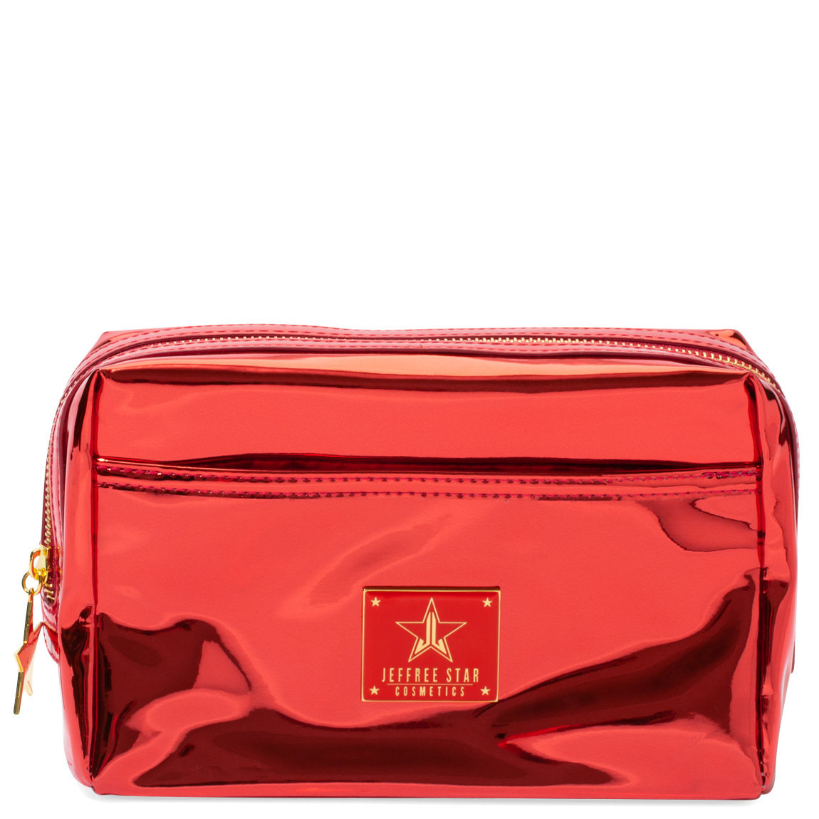 Jeffree Star Cosmetics Makeup Bag Reflective Red product swatch.